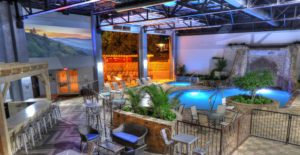 Ramsey Hotel Indoor Pool and Movie Screen