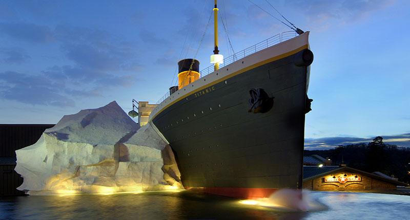 titanic pigeon forge exterior